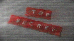 Top secret distorted Stock Footage