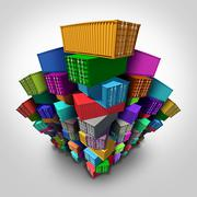 Stock Illustration of Cargo Freight Containers