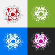 Stock Illustration of Drawing business formulas: atom