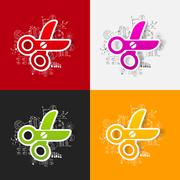 Stock Illustration of Drawing business formulas: scissors