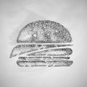 Sandwich icon Stock Illustration