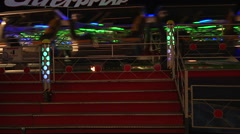 Amusement Park Rides At Night - stock footage