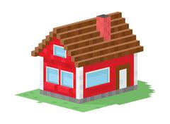 Family house building vector illustration - stock illustration