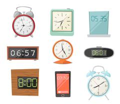 Clock watch alarms vector icons illustration Stock Illustration