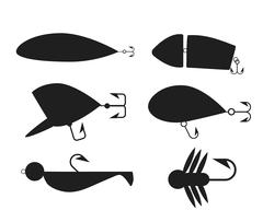 Fishing icons vector illustration - stock illustration