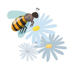 Stock Illustration of Bee cartoon style vector illustrations