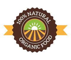 Stock Illustration of Natural eco organic product label badge vector icon
