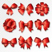 Ribbons set for Christmas gifts - stock illustration