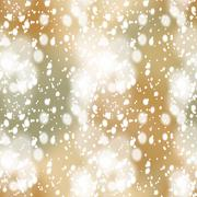 Stock Illustration of Colorful blurred background with snow overlay, seamless