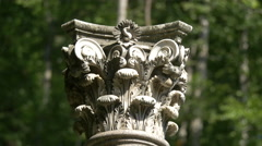Stock Video Footage of Corinthian column at Peles Castle