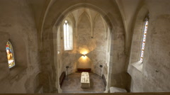 Tomb of John Hunyadi at Corvin Castle, Hunedoara - stock footage