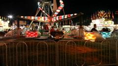 Amusement Park Rides At Night - stock footage