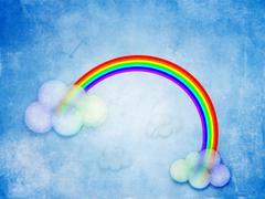 Abstract grunge rainbow - stock illustration