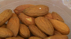 A Bowl of Almonds Stock Footage