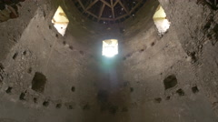 Inside the White Tower at Corvin Castle, Hunedoara Stock Footage