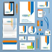 Stock Illustration of Set of vector corporate identity template. Modern business stationery design