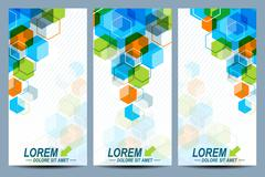 Set of the vector flyers.  Background with colorful hexagons. Modern stylish - stock illustration