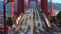 San Francisco Golden Gate Bridge traffic time lapse Stock Footage