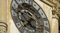 Zodiac clock at Peles Castle Stock Footage