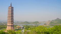 Bai Dinh Temple Complex timelapse 4K Stock Footage