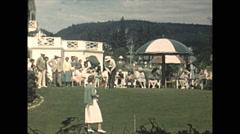 Vintage 16mm film, 1948, Quebec, people, golf putting Tadoussac Hotel Arkistovideo