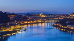 Before Sunrise at the most emblematic area of Douro river timelapse. World Stock Footage