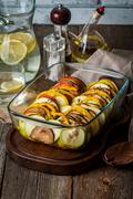 Ratatouille - traditional French Provencal vegetable dish Stock Photos