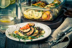 Famous French dish from Provence - Vegetable Ratatouille - stock photo