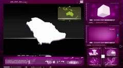Stock Video Footage of Saudi arabia - computer monitor - pink 0