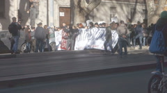 Student protest in Rome Stock Footage
