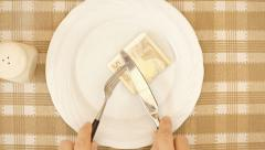 Dinner rich euro Stock Footage