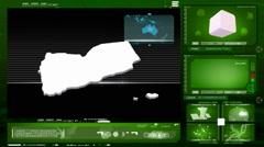 Stock Video Footage of Yemen - computer monitor - green 0