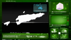 Timor-Leste - computer monitor - green 0 Stock Footage