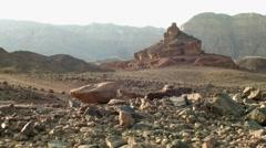 Red Desert Screw Rocky Mountain Slide Shoot Stock Footage