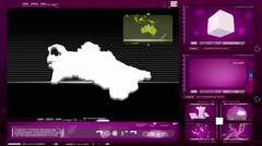 Stock Video Footage of Turkmenistan - computer monitor - pink 0