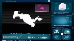 Stock Video Footage of Uzbekistan - computer monitor - blue 0
