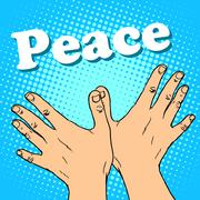 hand gesture dove of peace - stock illustration