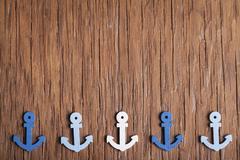 Small anchor close-up Stock Photos