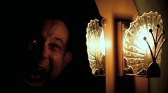 The screaming Ghost in the mirror at night. Stock Footage