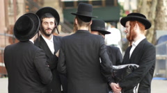 Young orthodox Jews in New York EDITORIAL Stock Footage