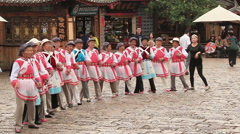 Naxi Dongba National Dance Stock Footage