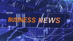 Screensaver for business news Stock Footage