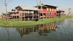 Ywama Village Inle Lake Stock Footage