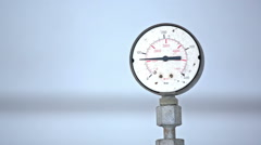 Barometer showing pressure close up Stock Footage