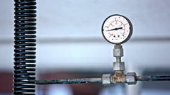 Pressure meter showing results  - stock footage