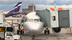 MOSCOW, RUSSIA -Airport Sheremetyevo. Stock Footage