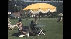 Vintage 16mm film, 1948, Quebec, Tadoussac Hotel grounds #2 Arkistovideo