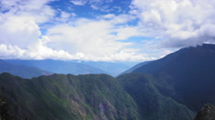 Elevated view of Machu Picchu, Cusco Region, Urubamba Province, Machupicchu Stock Footage