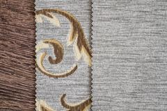 Stock Photo of Close Up Detail of Cream Color Fabric Texture