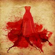 Painted red dress Stock Illustration